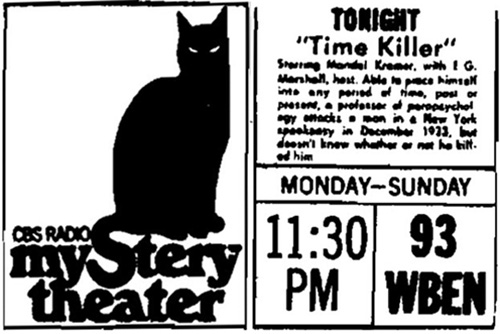 CBS Radio Mystery Theater Ad